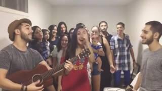 melim cantando meu abrigo com fãs