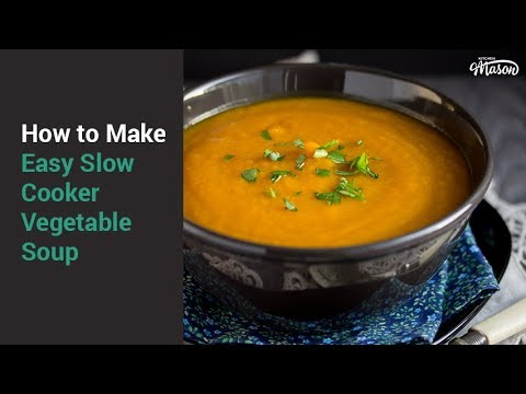 Easy Slow Cooker Vegetable Soup Recipe