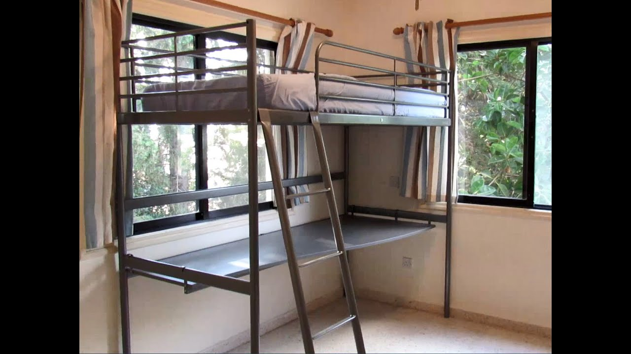 Loft Bed Ikea Svarta With Table For Teen Boy How To Assemble Youtube