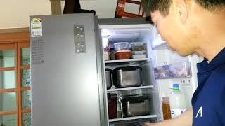 냉장고 문 고무자석 약…