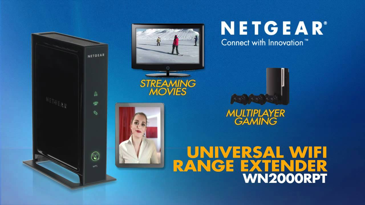 NETGEAR Universal WiFi Range Extender (WN2000RPT) Product Tour - YouTube