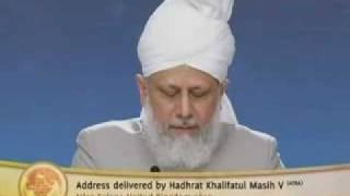 Jalsa Salana UK 2010 - Day 2 - Morning Session Beloved Huzurs Address (Part 1)