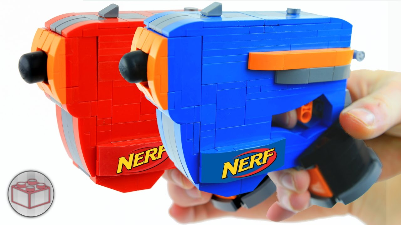 Build Yourself A Working Nerf Blaster Out Of Lego - Geek com
