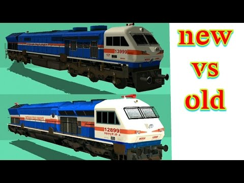 Difference in old and new engines | indian train simulator