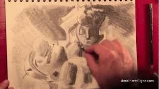 comment dessiner au fusain
