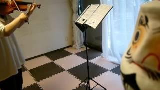 バイオリン初心者。習い始めて10ヶ月。カノン練習中。