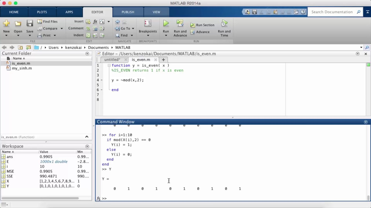 Learn MATLAB Episode #6: For Loops, While Loops, If/Else Statements