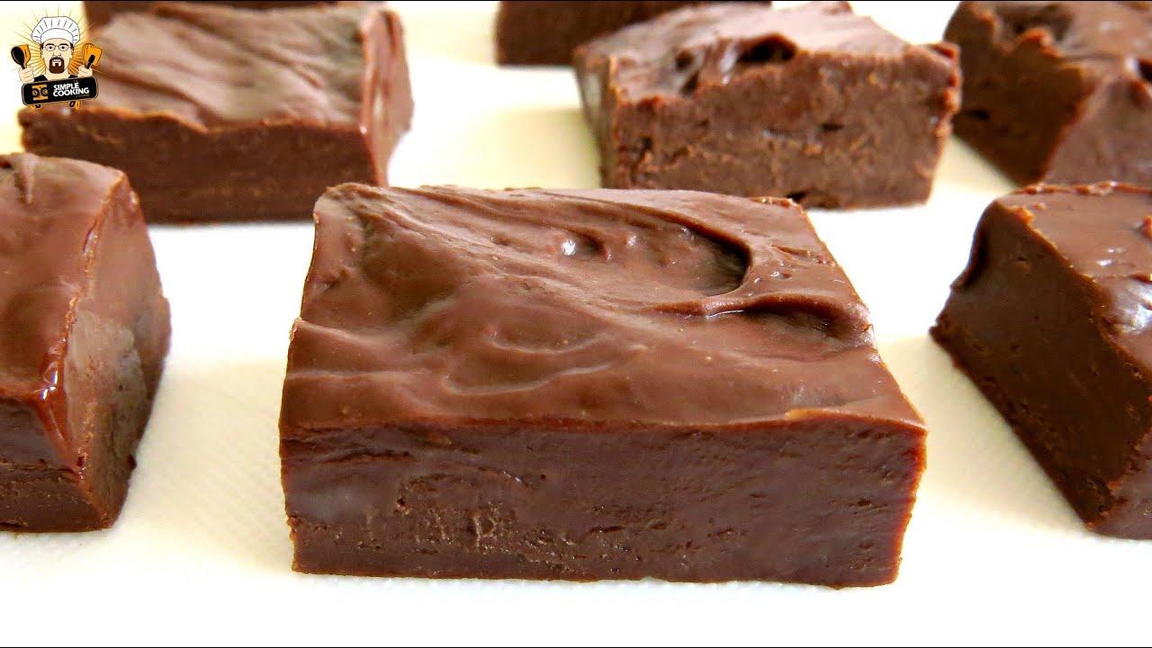 2 Ingredient Chocolate Fudge Youtube