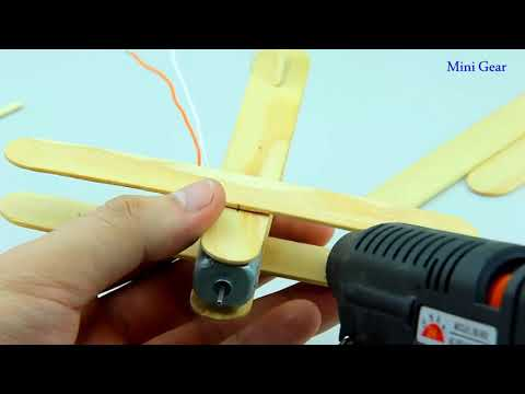 Cómo hacer un avión con motor DC - Toy Wooden Plane DIY