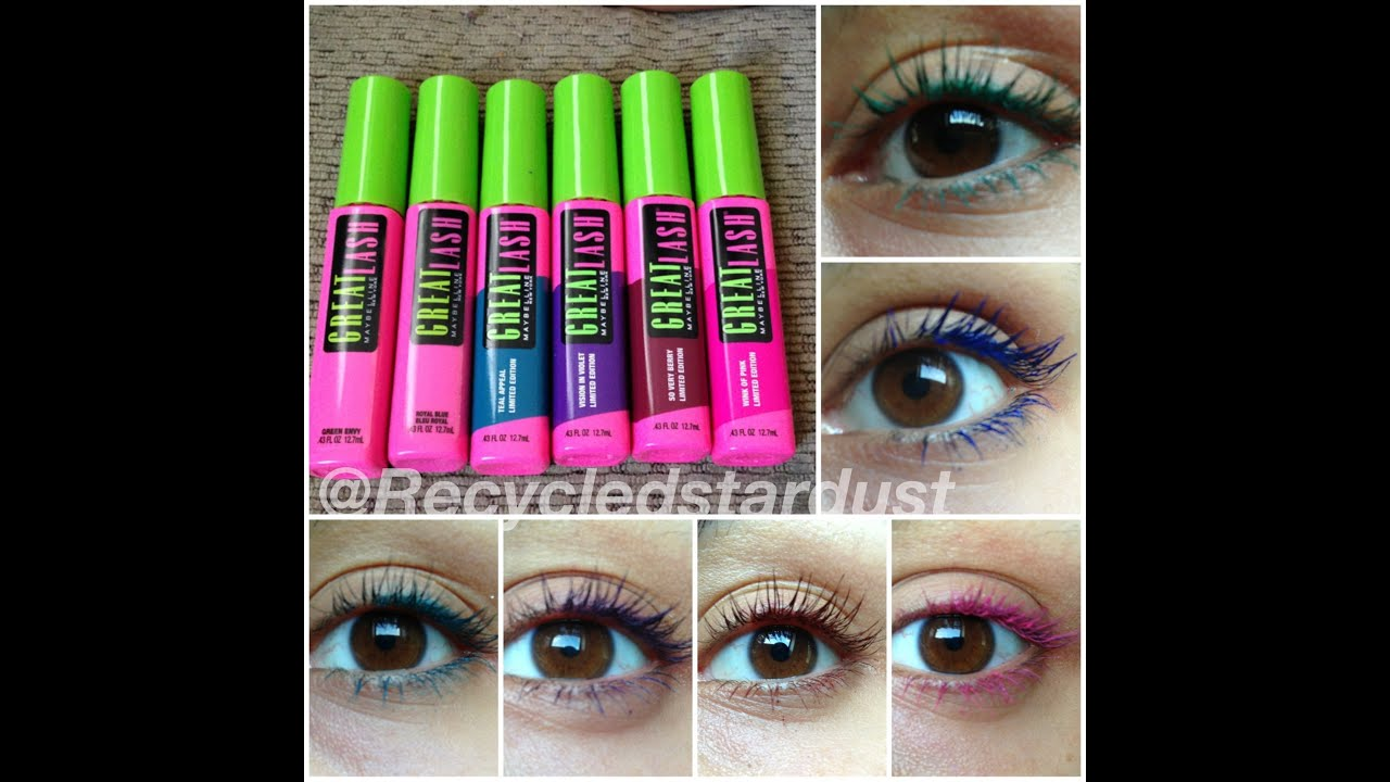 Maybelline Great Lash Limited Edition Colors Review - YouTube