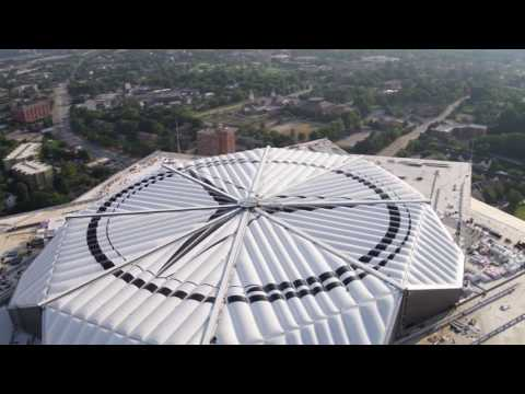 Mercedes-Benz Stadium Roof Close Timelapse