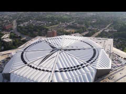Mercedes-Benz Stadium Roof Close Timelapse