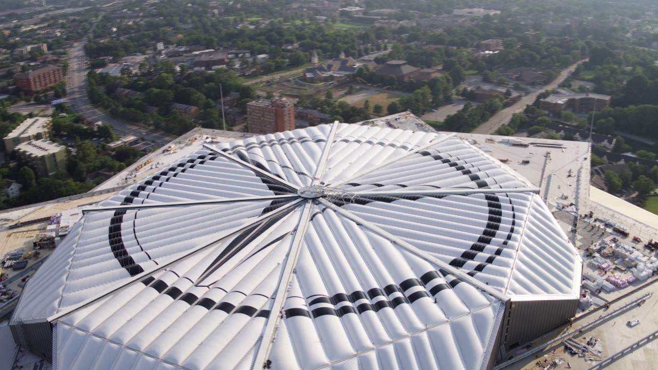 Mercedes Benz Stadium Roof Close Timelapse Youtube