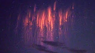 VIBRANT RED SPRITES Jets & Mysterious Ghosts