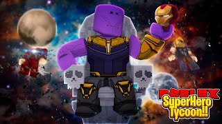 ROBLOX - THANOS RULES ALL IN 2 PLAYER SUPERHERO TYCOON!!