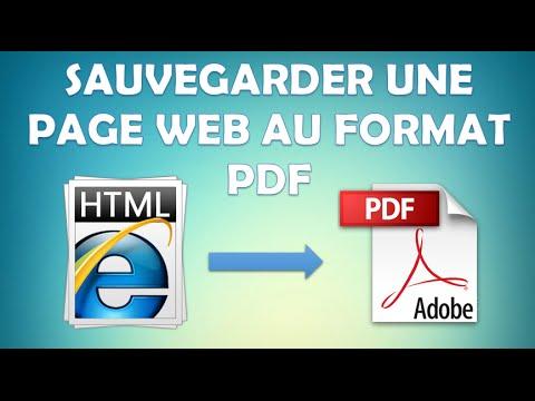 enregistrer une seule page pdf