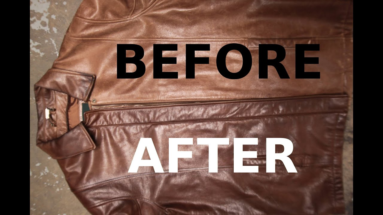 How To Restore A Brown Leather Jacket Youtube