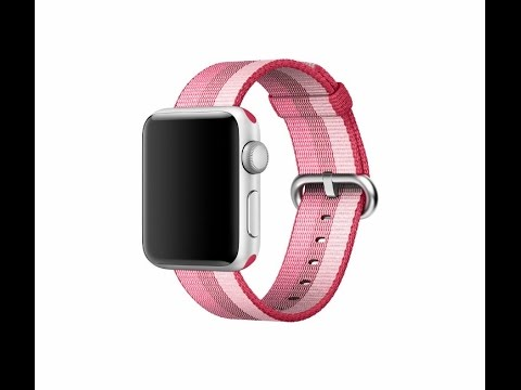 """The New  """"BERRY"""" Color Apple Nylon Watch Band Unboxing and Review!"""