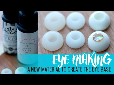 Eye Making for Dolls - Using UV resin for the eye bases