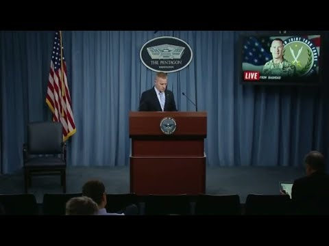 WATCH: United States Defense Department Briefing from Baghdad Press Conference 8/16/17