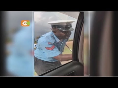 Outrage as officer is caught on camera soliciting bribe