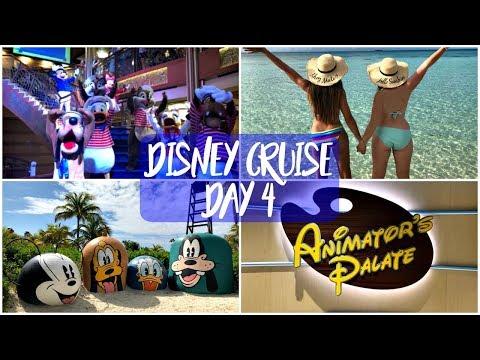 Disney Dream Cruise Bahamas February 2018 | Day 4 - Castaway Cay & Animators Palette