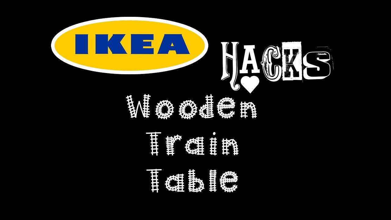 sc 1 st  YouTube & DIY Wooden Train Table (IKEA HACK) - YouTube