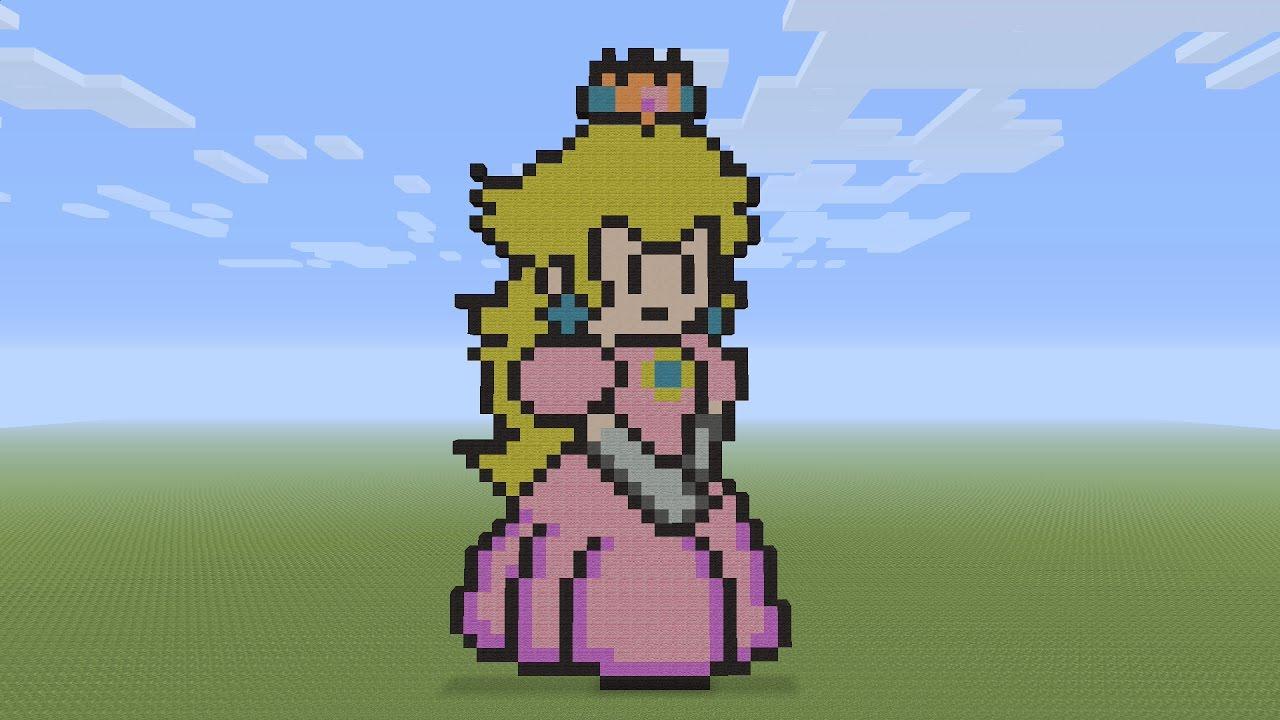 Minecraft Pixel Art Princess Peach
