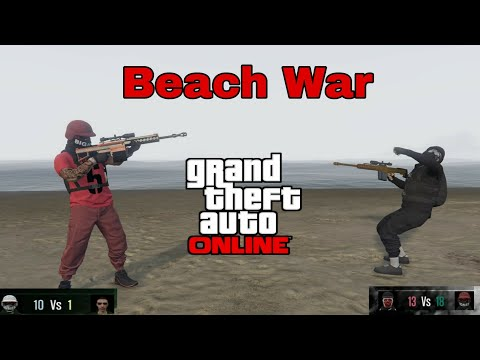 Playing As A Try Hard | Beach War & 1v1 Heavy Snipers | GTA 5 Online Gameplay