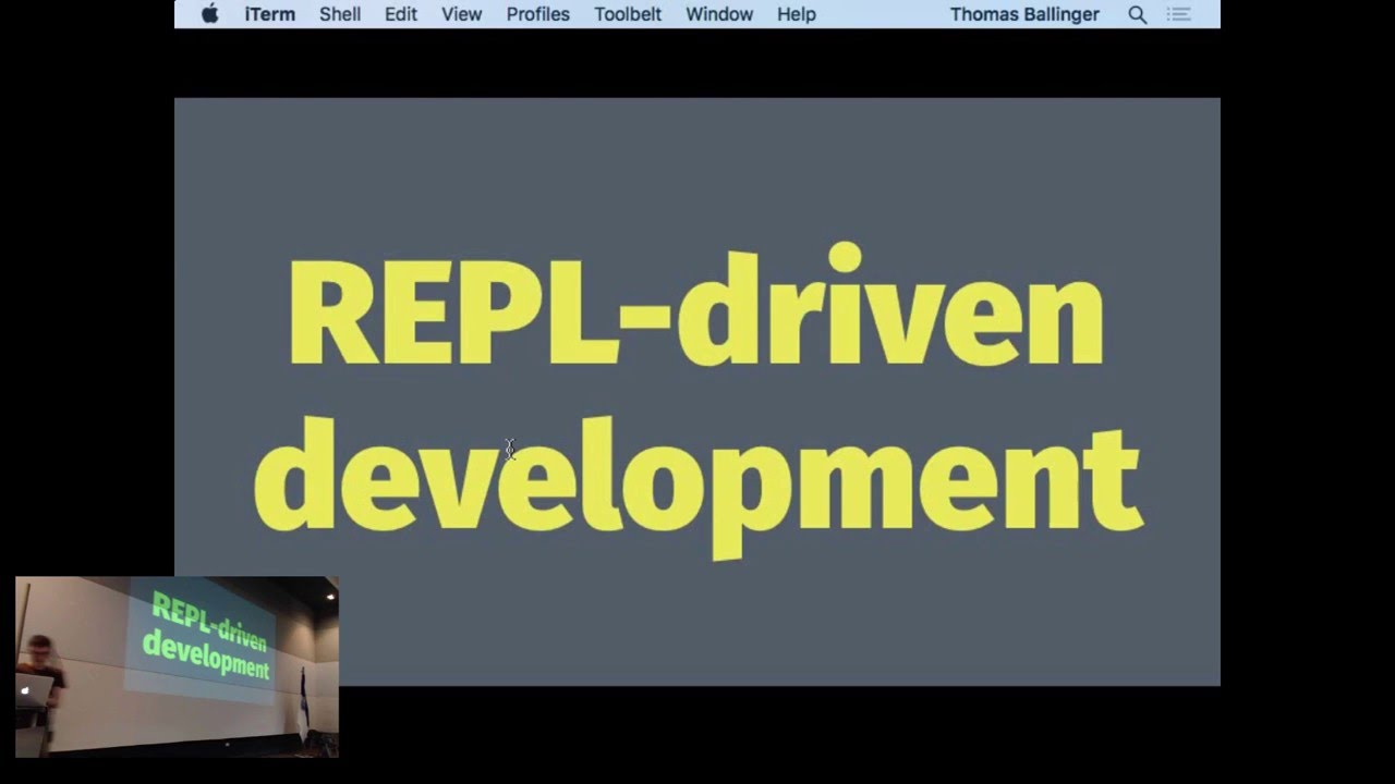 Image from REPL-driven development