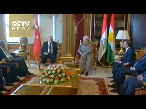 Turkish foreign minister meets Kurdish president in Arbil