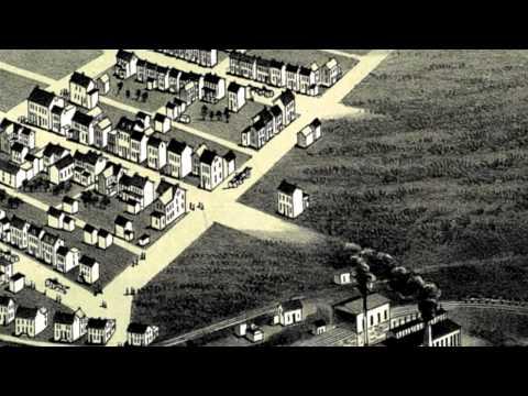 Frackville Pennsylvania 1889 Panoramic Bird's Eye View Map 6959