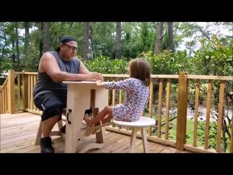 DIY - Folding Table for Two | Woodworking Project | Izzy Swan