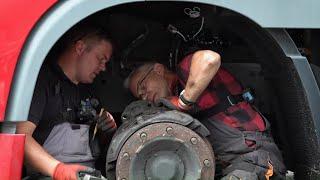 Czas leciał a hamulce w DAFie nie chciały odpuścić! #Mobilni_Mechanicy