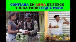 PORTABA ARMA DE FUEGO- Y PENSABA SER EL SUPER HOMBRE LUEGO MIRA QUE PASA...