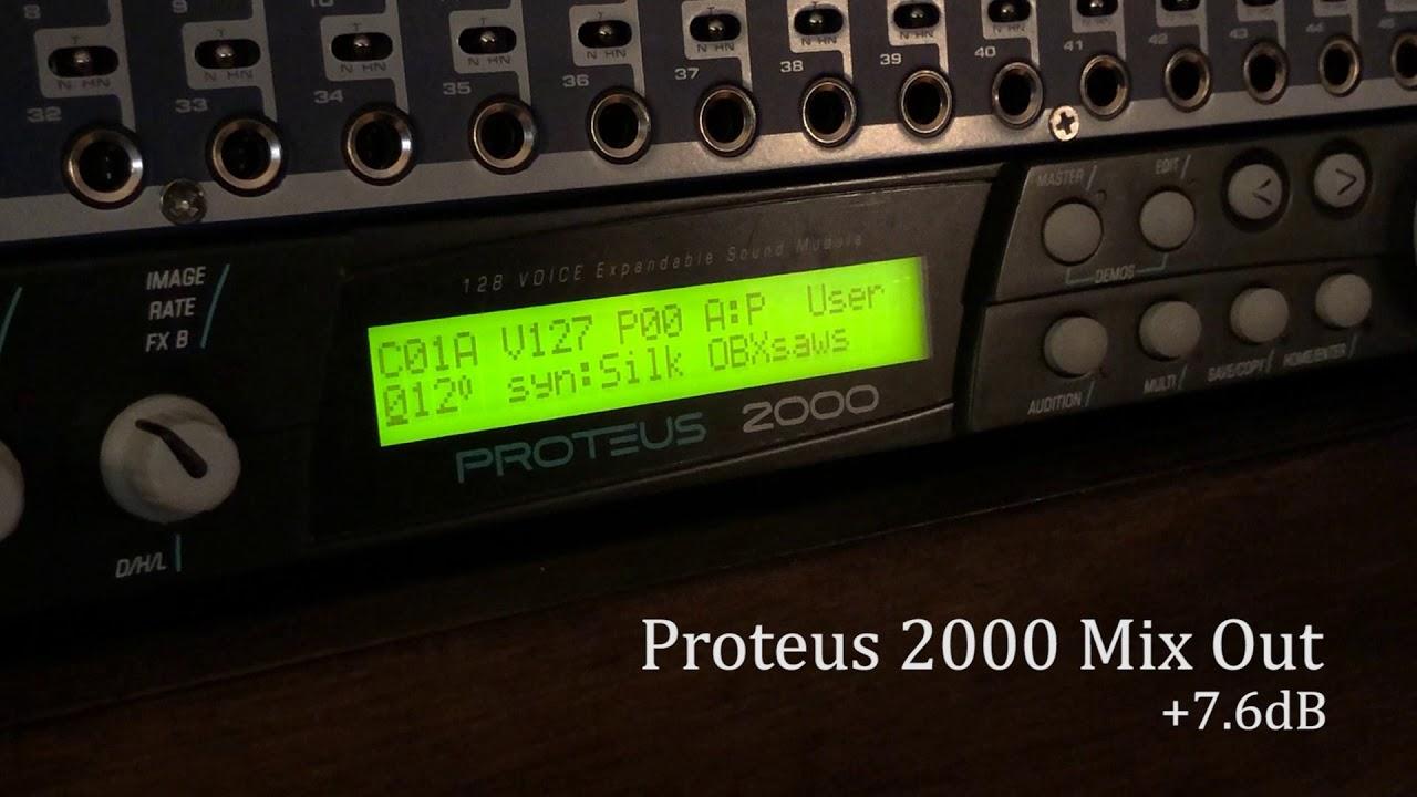 P 2000 Nhn.E Mu Proteus 2000 Roland Da 400 Output Comparison