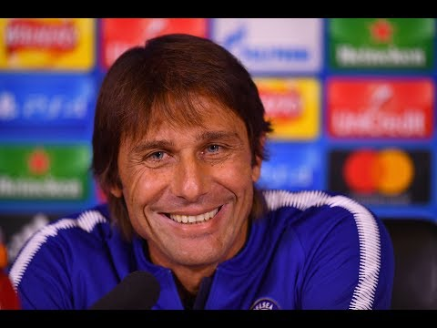 Antonio Conte & Marcos Alonso Press Conference | Chelsea v Roma | Champions League