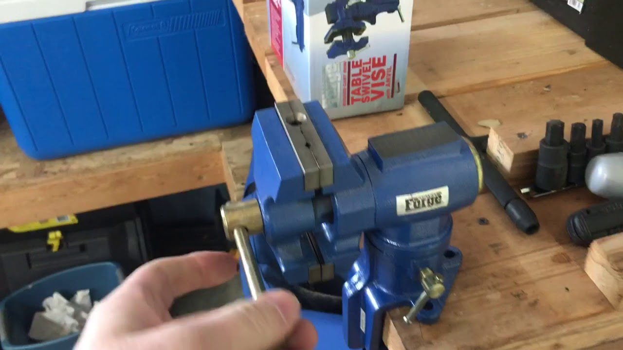 Small Table Vice From Harbor Freight Youtube