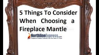 5 Factors To Take Into Consideration Before Purchasing A Fireplace Mantel