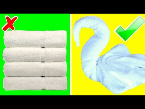 5 EASY TOWEL HACKS YOU CAN DO AT HOME!