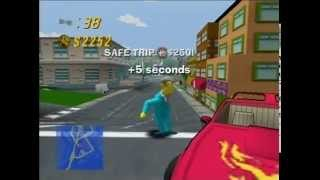 Sports Car - Apu - Downtown (The Simpsons Road Rage Gameplay Part 81)