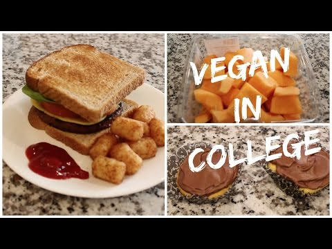 What I Eat in a Day as a VEGAN COLLEGE STUDENT
