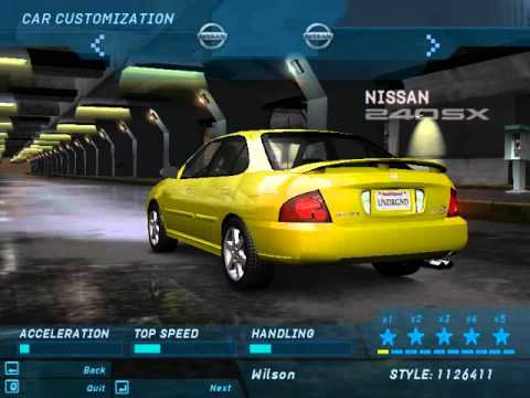 Need For Speed Underground 1 All Cars Youtube