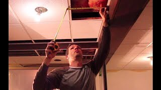 How to cut drop ceiling tiles