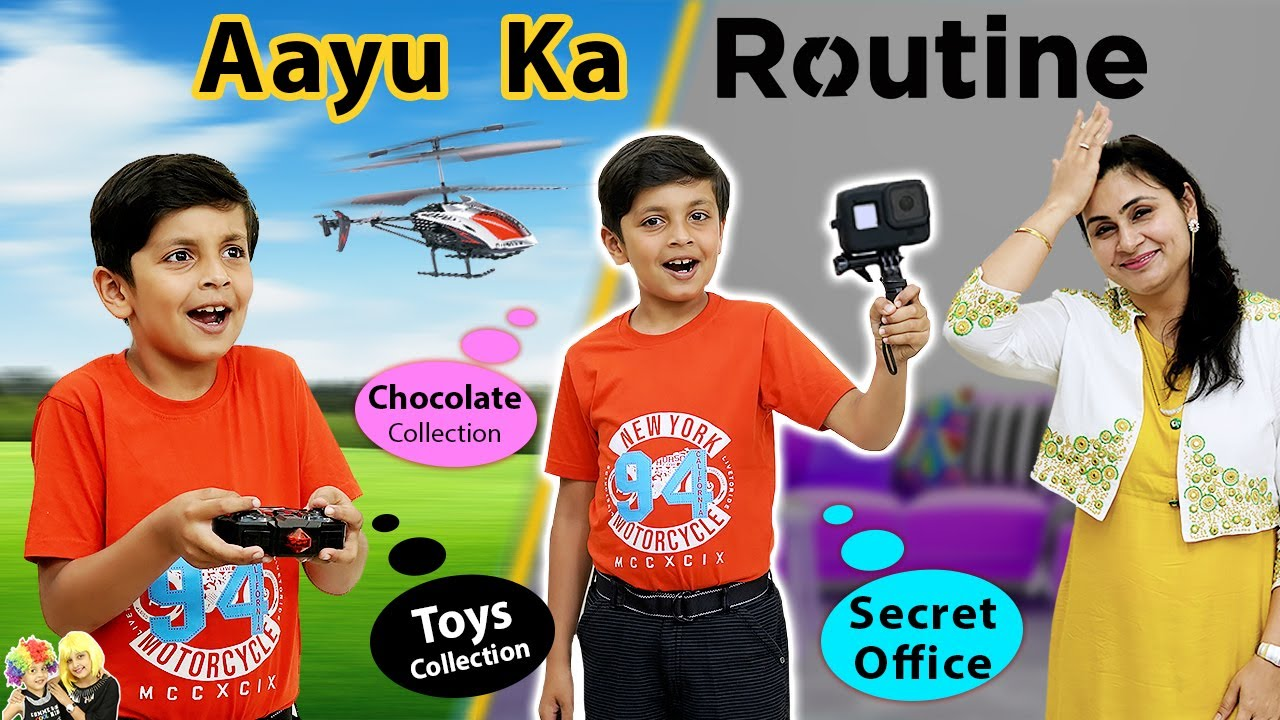 AAYU KA DAILY ROUTINE | Chocolate Collection | Secret Office Home tour Lifestyle Aayu and Pihu Show