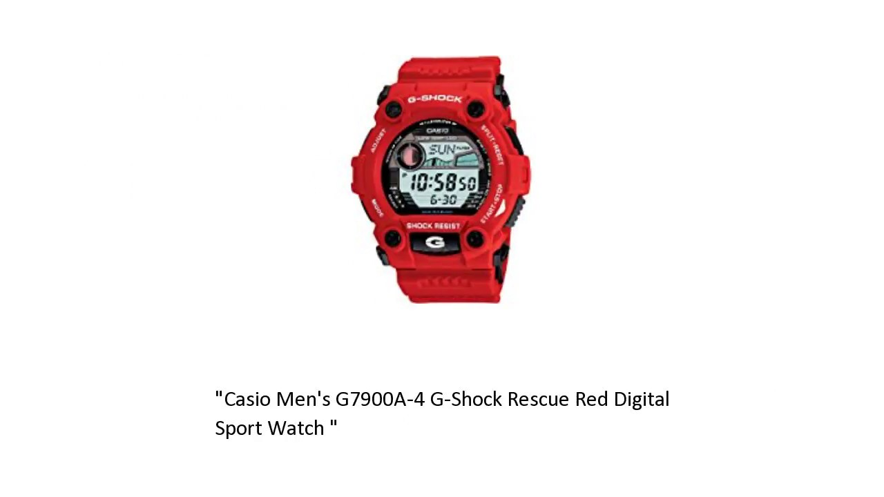 57a36d733c93 Casio Men s G7900A-4 G-Shock Rescue Red Digital Sport Watch Review ...