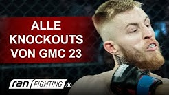 GMC 23: ALLE KNOCKOUTS + SUBMISSIONS - Flying Uwe, Maurice Adorf, Kerim Engizek - ran FIGHTING