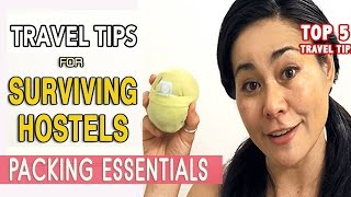 TRAVEL ESSENTIALS FOR STAYING AT HOSTELS