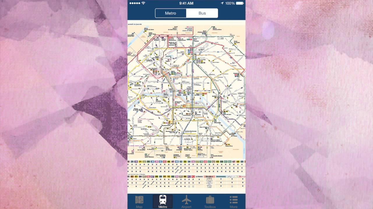 Paris Metro Map App.Paris Offline Map App City Metro Airport Youtube