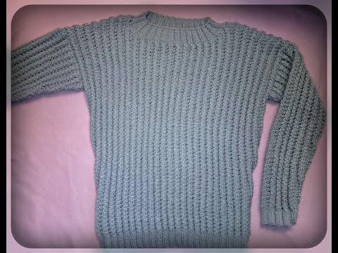 Как связать мужской джемпер         How to tie mens cardigan or pullover